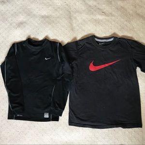 Nike thermal long sleeve + t shirt medium